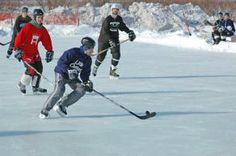 Hockey Is Played on Frozen Lakes and Ponds in Traverse City, MI