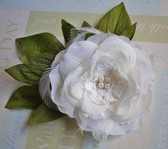 silk flower refashion