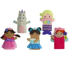 Finger Puppet Set - Fantasy Friends - By Jill McDonald - CR Gibson