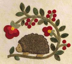 baltimore penny rug pattern | More like this: hedgehog , design and applique designs .