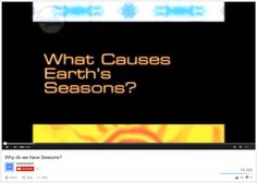 """Why do we have seasons?"" video, #fifthgrade #earth #science #instructionalmaterial"