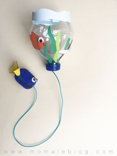 {DIY} Un bilboquet « Le monde de Dory! Projects For Kids, Diy For Kids, Crafts For Kids, Summer Crafts, Diy And Crafts, Arts And Crafts, Camping Crafts, Animal Crafts, Bottle Crafts