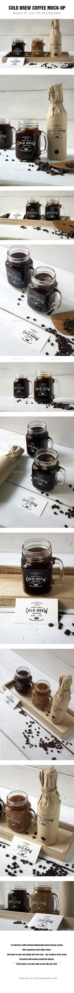 Cold Brew Coffee Mockup - Food and Drink Packaging