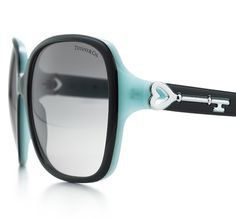 Tiffany & Co. | Item | Tiffany Keys square sunglasses in black and Tiffany Blue® acetate. | United States