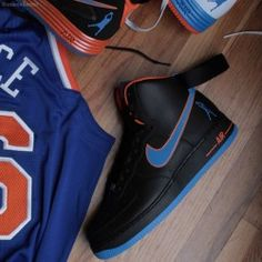 """Nike Air Force 1 High """"Rasheed Wallace"""" Knicks Away PE (3). These are the nicest!"""