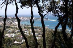 Veduta della baia di Forio da Parco La Mortella, Ischia