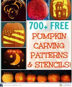 I love carving pumpkins ... can't stand the 'ol triangle cut outs... and finding good patterns is sometimes a challenge