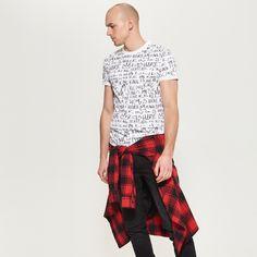 Koszulka we wzory, RESERVED, QN112-00X