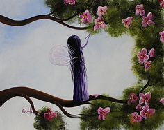 Shawna Erback - Fairy Blossoms Original Whimsical Art