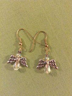 Christmas Angels Earrings - for sale
