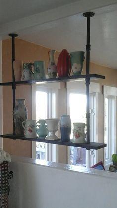 hanging kitchen shelves suspended from ceiling. Black Bedroom Furniture Sets. Home Design Ideas