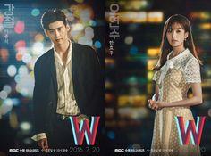Korean Drama 'W' Reveals Posters with Lee Jong Suk and Han Hyo Joo   Koogle TV