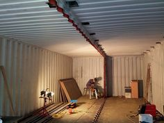 Shipping Container Floor In Shipping Container House Supports And Cut Outs Odpododpod