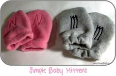 Fleece Baby Mittens (click on the photo to get the tutorial!)