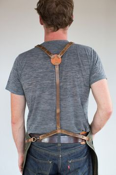 Mens Rust Waxed Canvas & Horween Leather Apron No. by ArtifactBags