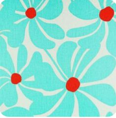 Turquoise Flowers, Red Turquoise, Aqua, Teal, Textiles, Textile Patterns, Fabric Blinds, Drapes Curtains, Drapery Fabric