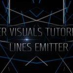 ZYPER VISUALS TUTORIAL 02 - Lines Emitter   VJs TV Interactive Art, Generative Art, Neon Signs, Tv, Tvs, Television Set, Television