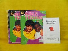 Bob Jones K5 Bible Truths Student Packet & Teacher, LN & Homeschool Report Card #TextbookBundleKit