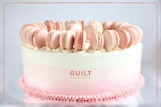 Ombre Macaron Cake  Cake by guiltdesserts