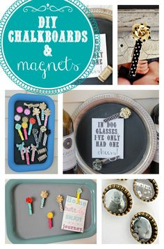 Love these darling DIY chalkboards and magnets! #diy #decor