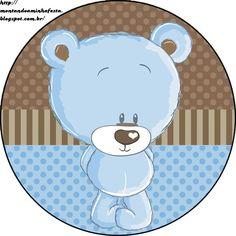 Montando a minha festa: Urso Marrom e Azul
