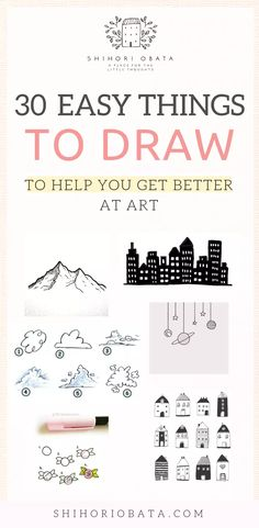 30 Cool & Easy Things to Draw to Get Better at Art Drawing Tips drawing for beginners Drawing Lessons, Drawing Tips, Art Lessons, Drawing Ideas, Drawing Techniques, Drawing Drawing, Learn Drawing, Drawing Sketches, Gift Drawing