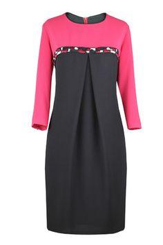 Suknia Donna czarno-wiśniowa
