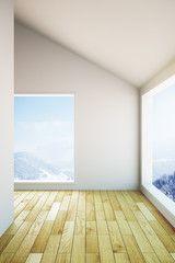 Empty wooden interior