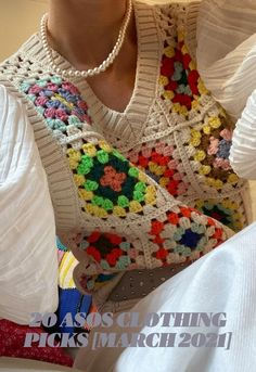 Mode Crochet, Diy Crochet, Crochet Top, Crotchet, Crochet Crafts, Crochet Designs, Crochet Patterns, Crochet Fashion, Crochet Granny