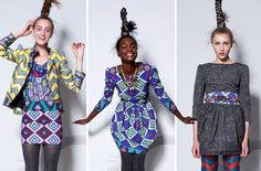 Fun patterns from the Suno collection.  The clothing is constructed by recycled textiles from Kenya.