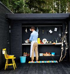 Utekök styling Anna Hänström & Bettina Bieberstein Lee foto Klas Sjöberg #outdoorkitchen #OutStanding #addaroom #horred