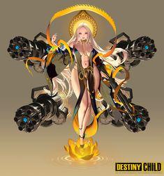 by Hyulla (HyungsupKim) Fantasy Girl, Fantasy Art Women, Dark Fantasy Art, Fantasy Artwork, Female Character Design, Character Design Inspiration, Character Concept, Character Art, Cool Anime Girl