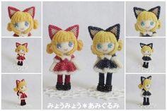 niñas gatas amigurumi pagina japonesa