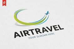 Air Travel Logo by ft.studio on @creativemarket