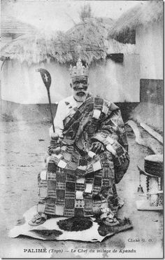 An Ewe Chief, Togo, c. 1920