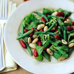 Three-Bean Salad With Honey-Mustard Vinaigrette Recipe  with 11 ingredients