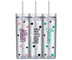 Set of 4 Personalized Tumbler Bridesmaid by AbsoluteDecorated