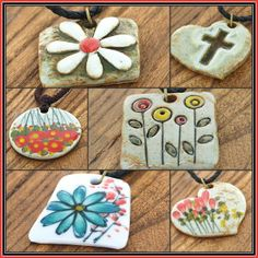 Ceramic Necklace, Ceramic Pendant, Ceramic Jewelry, Clay Jewelry, Handmade Ceramic, Handmade Gifts, Fashion Accessories, Fashion Jewelry, Play Clay