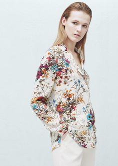 Chemise à imprimé à fleurs - Chemises pour Femme | MANGO France