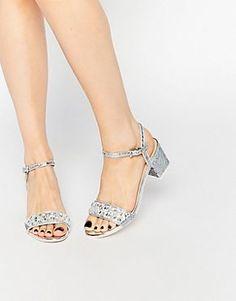 ASOS HIJACK Embellished Glitter Heeled Sandals
