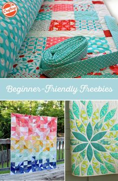 Find FREE patterns that are perfect for beginning quilters! Choose a design you love from this curated collection of beginner-friendly freebies, and hone your skills by making something amazing.: