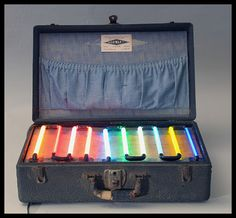 Dorwart Neon Signs salesman's sample case, Lancaster PA, ca. 1935.