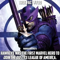 Avenger or member of the JLA.. Why not both? He joined in the crossover event JLA/Avengers 3. | Hawkeye