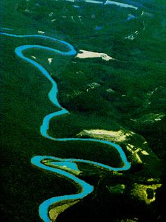 Aerial View of Bayou at Baton Rouge, Louisiana