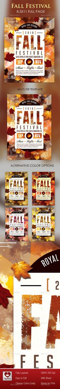 Fall Festival Flyer Template #design Download: http://graphicriver.net/item/fall-festival-flyer/12787053?ref=ksioks