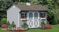 The Quaker shed is a perfect addition to your back yard, adding storage and charm.