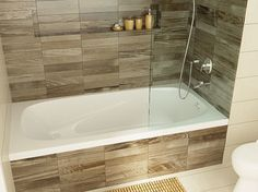 drop in tub flush with wall tile