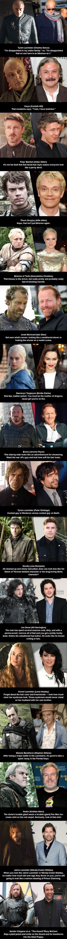 Game of Thrones: Actors vs Characters