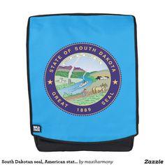 South Dakotan seal, American state seal Backpack