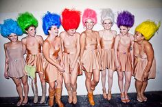 Great group costume!  And any troll for any hair color | 46 Awesome Costumes For Every Hair Color